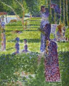 Georges Pierre Seurat - Study for 'A Sunday on the Island of La Grand Jatte' Couple Walking