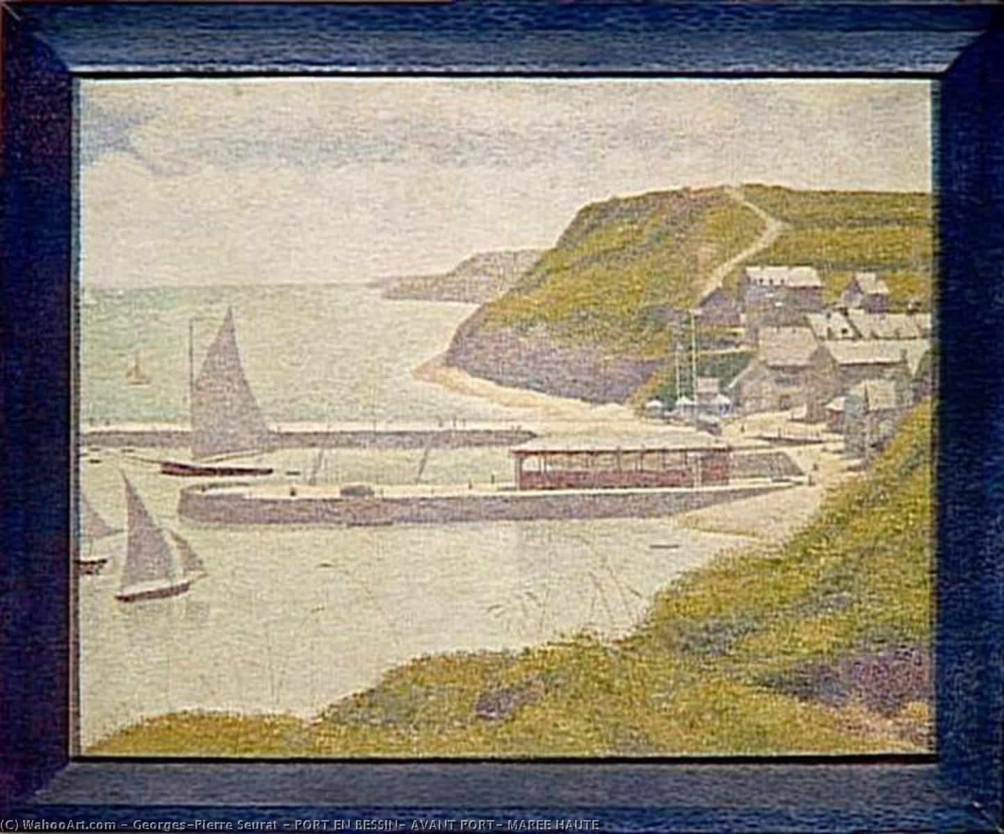 famous painting PORT EN BESSIN, AVANT PORT, MAREE HAUTE of Georges Pierre Seurat