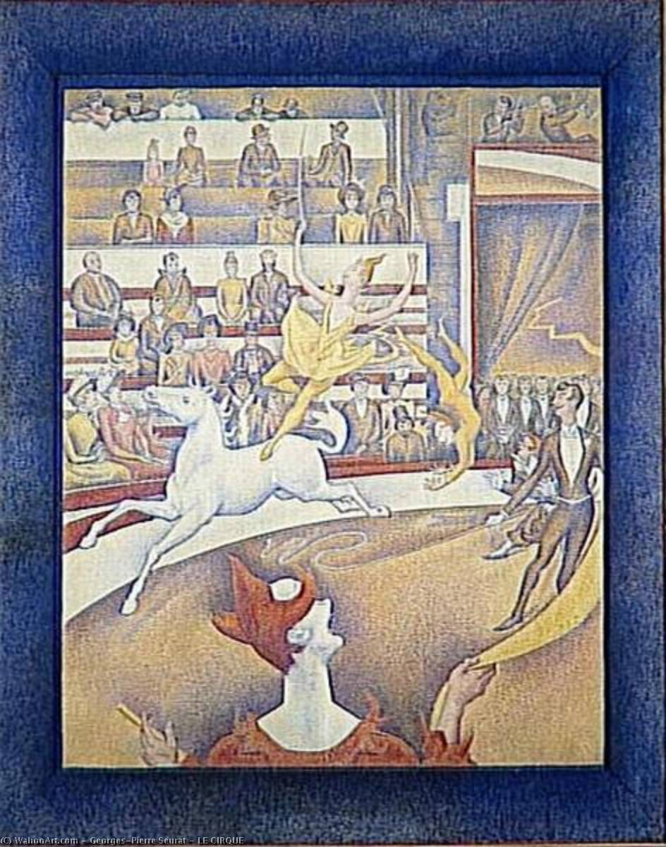 famous painting LE CIRQUE of Georges Pierre Seurat