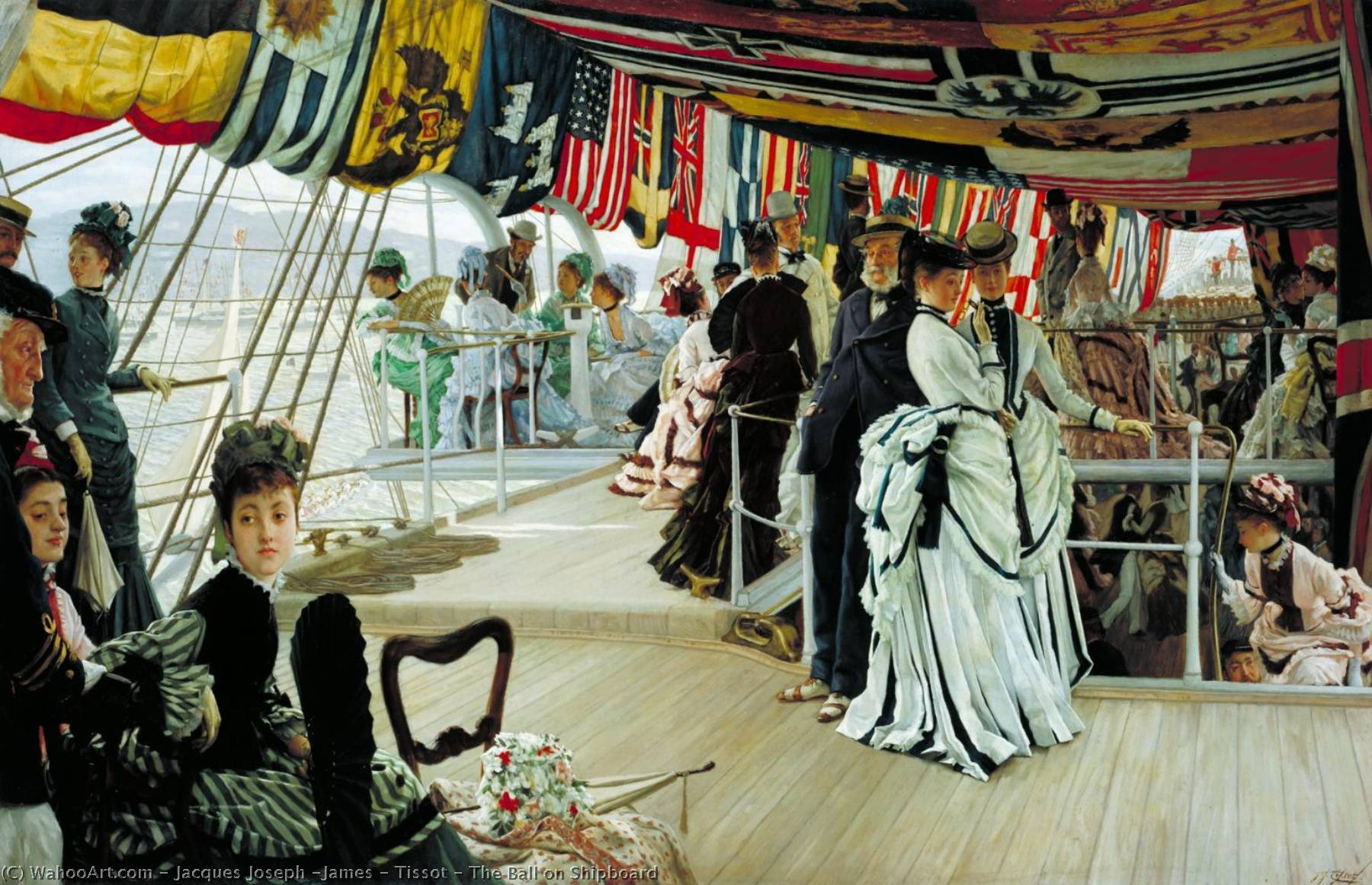 famous painting The Ball on Shipboard of James Jacques Joseph Tissot