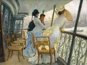 Jacques Joseph (James ) Tissot - The Gallery of HMS Calcutta (Portsmouth)
