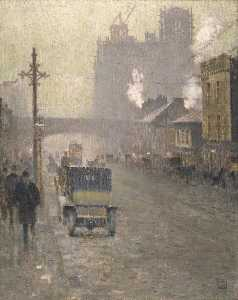 Pierre Adolphe Valette - Oxford Road, Manchester