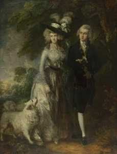 Thomas Gainsborough - Mr and Mrs William Hallett (also known as The Morning Walk)