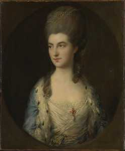 Thomas Gainsborough - Portrait of a Young Woman, Called Miss Sparrow