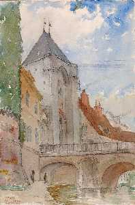 Cass Gilbert - Bridge at Moret, France