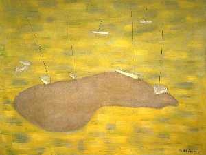 Milton Avery - Sandbar and Boats