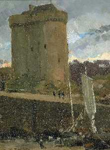 James Carroll Beckwith - La Tour de Solidor at St. Severin, Normandy
