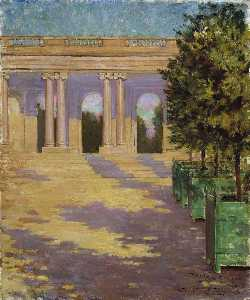 James Carroll Beckwith - Arcade of the Grand Trianon, Versailles