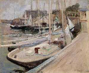 John Henry Twachtman - Fishing Boats at Gloucester