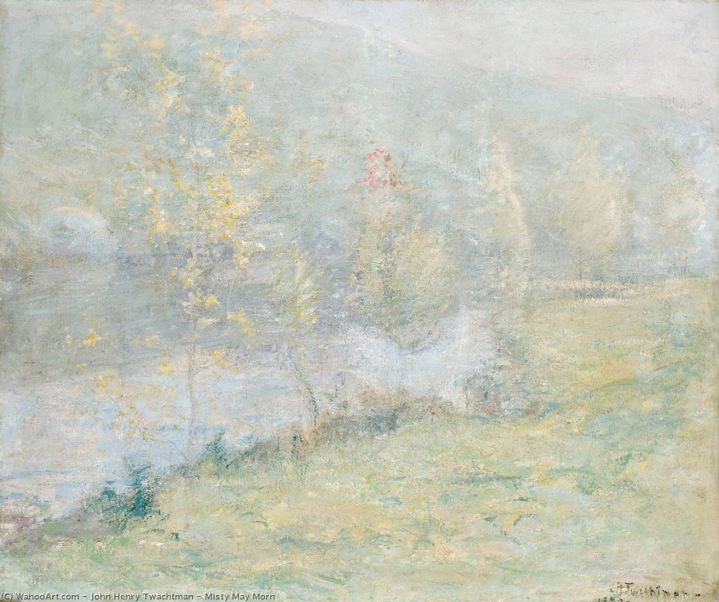 famous painting Misty May Morn of John Henry Twachtman