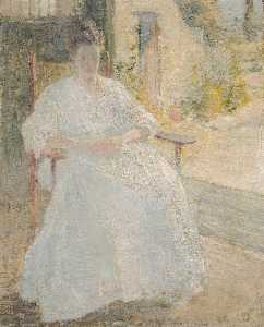 John Henry Twachtman - Figure in Sunlight (Artist's Wife)