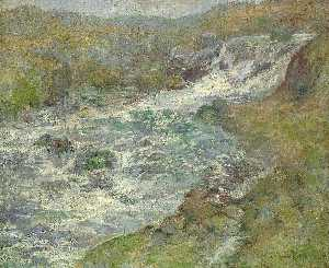 John Henry Twachtman - The Torrent