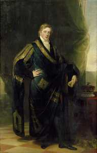 George Sanders - George John Frederick Sackville (1793–1815), 4th Duke of Dorset, in Academic Robes