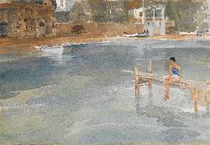 William Russell Flint - Stephanie's Jetty